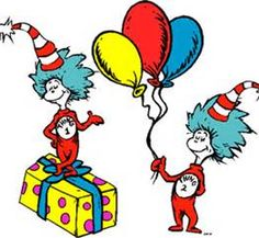 Thing and printable coloring. Dr seuss clipart template vector download