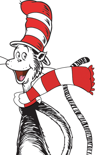 Dr seuss thing 1 and thing 2 png. Image cat in the