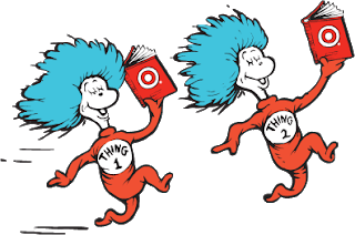 Dr seuss thing 1 and thing 2 png. Educational kismet inspired board