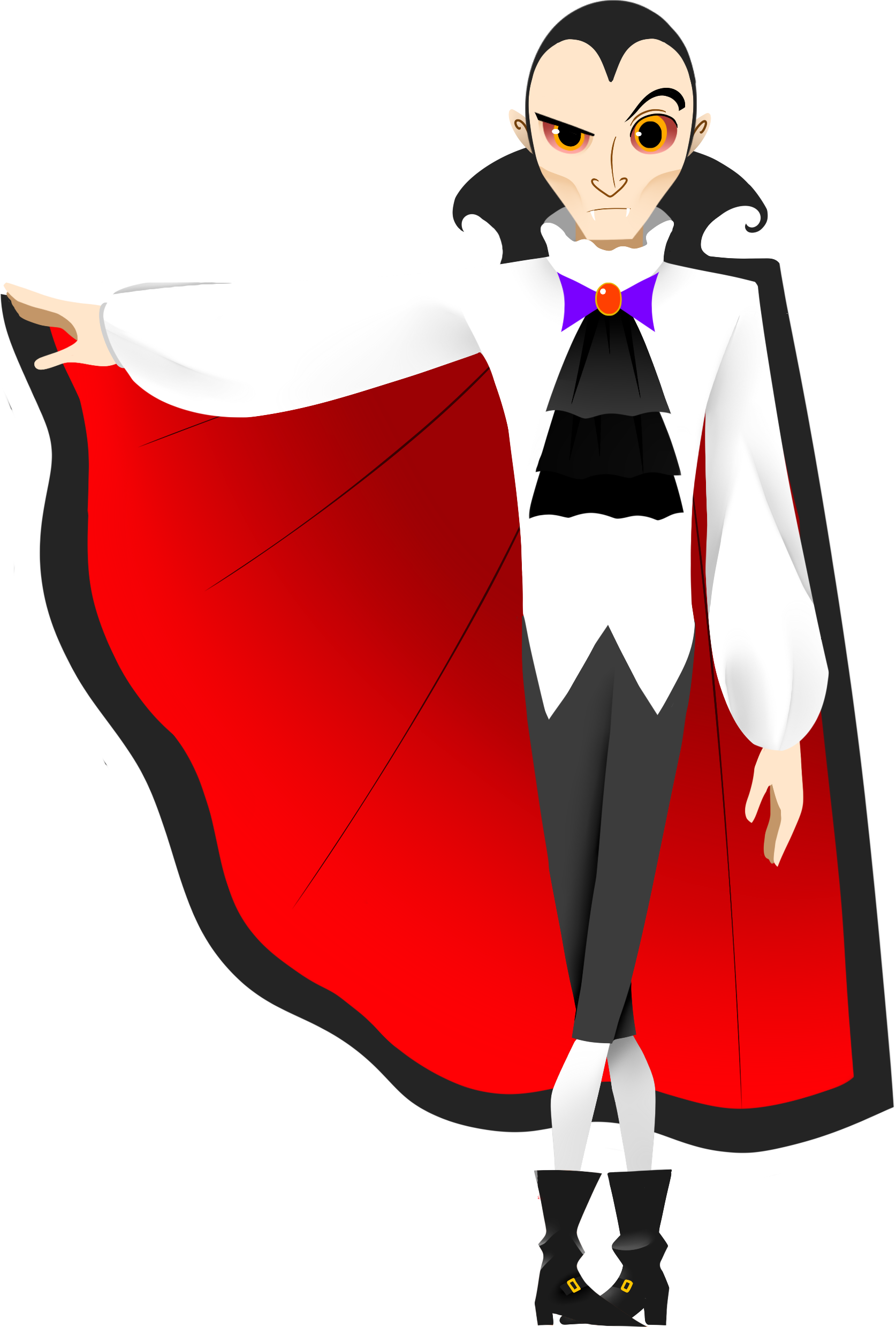 Vector count dracula. Animated clipart