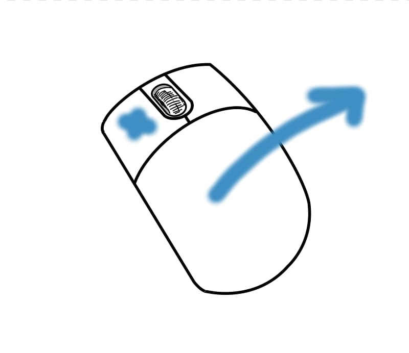 Drag and drop. Computer mouse pointer button