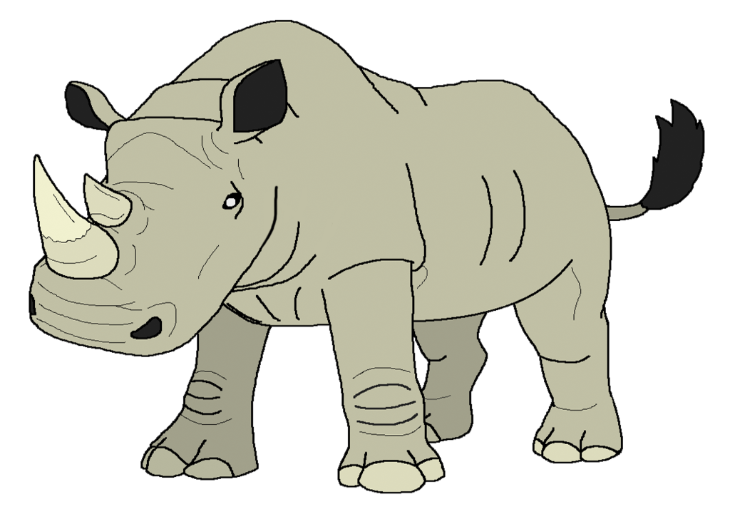 Rhinos drawing tribal. White rhinoceros by kylgrv