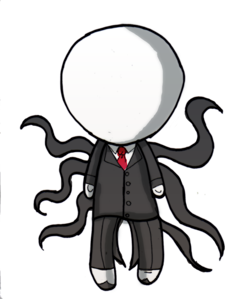 Dragoart drawing slender man. Slenderman chibi by danielle