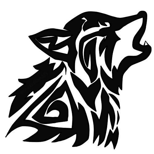 Wolf by whitewolfcub on. Dragoart drawing tribal png transparent download