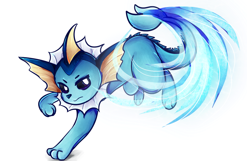 tails drawing vaporeon