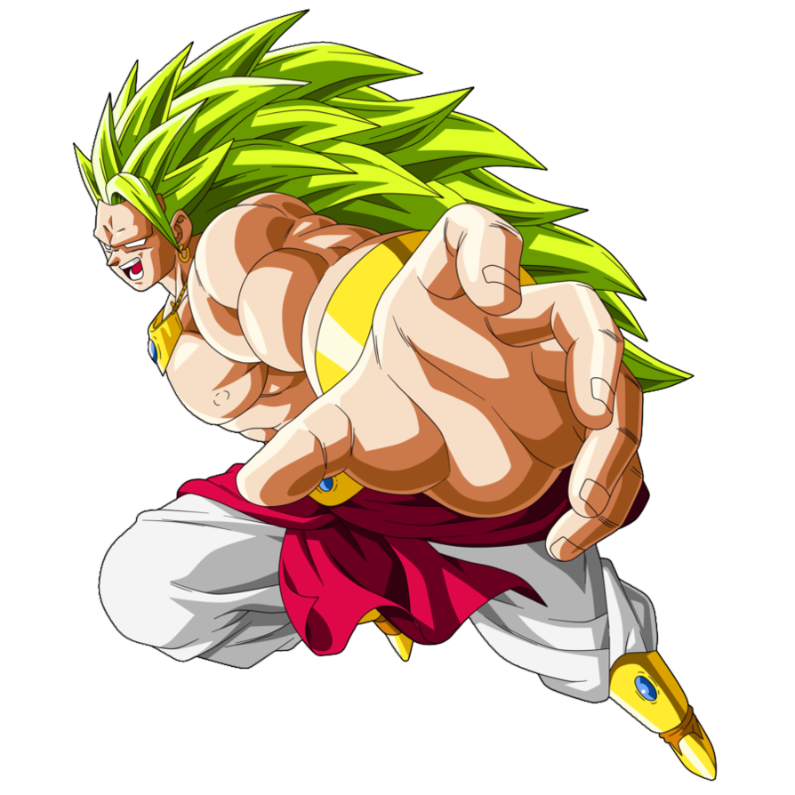 Dragon ball broly png. Image super render by
