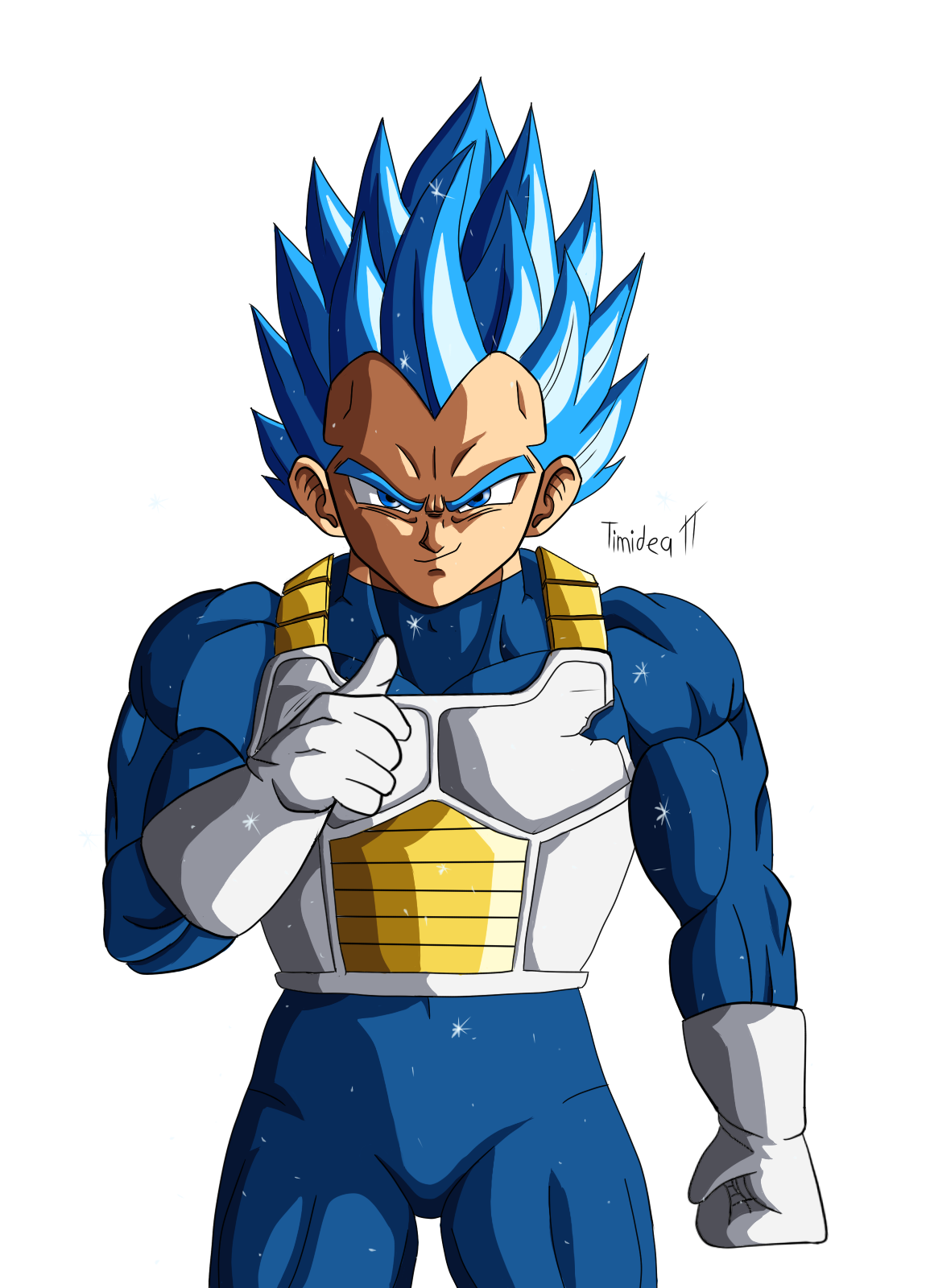 Dragon ball super vegeta png. Fanart oc blue dbz
