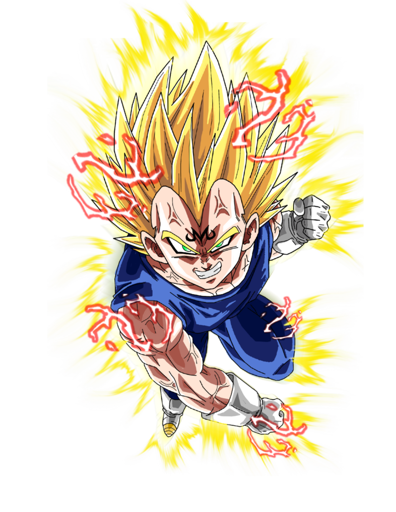 Dragon ball z aura png. Majin vegeta by brusselthesaiyan