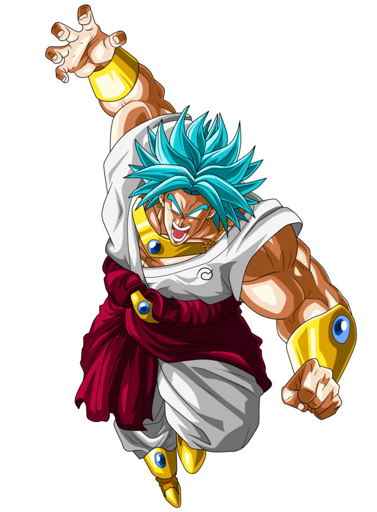 Dragon ball z broly png. Image lssj blue by