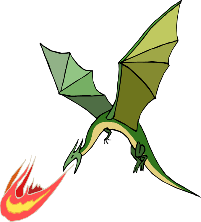 Dragon clip flying. Clipart graphics illustrations free