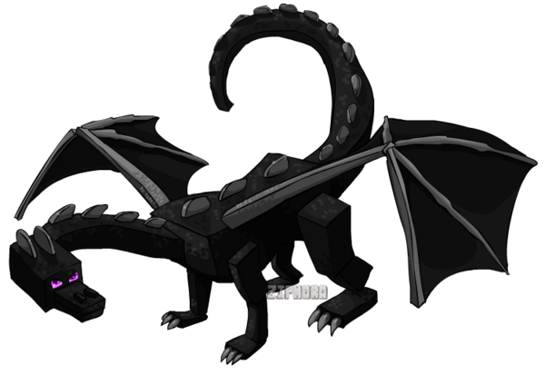 Enderman drawing ender dragon. Pictures by ziphora on