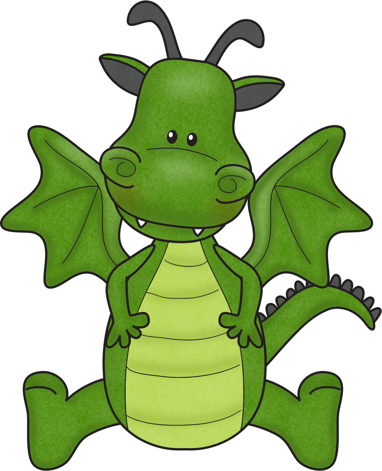 Dragon clip puff the magic. Image transparent stock