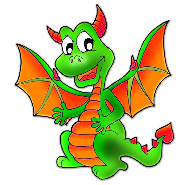 Dragon clipart female dragon. Cute dragons cartoon clip
