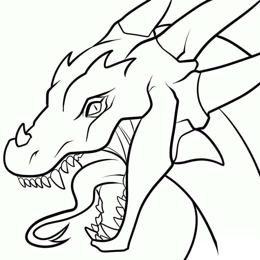 Dragon clipart simple. Chinese pencil drawing at