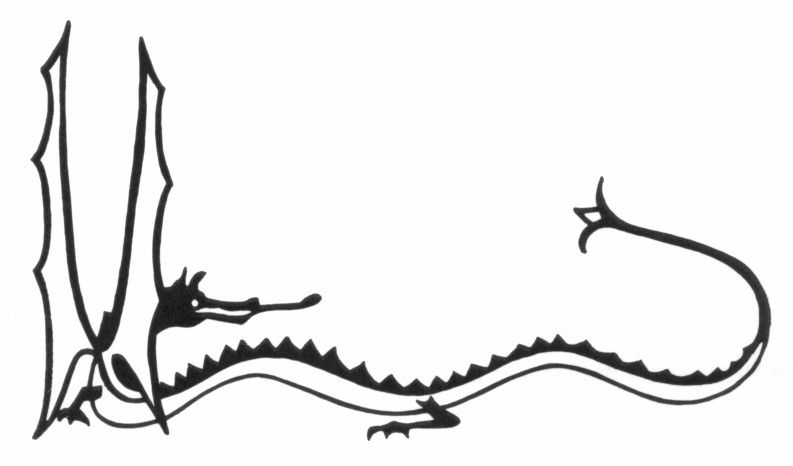 Dragon clipart smaug. Tolkien s drawing of
