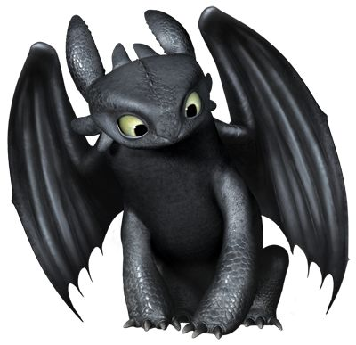 Dragon clipart toothless.