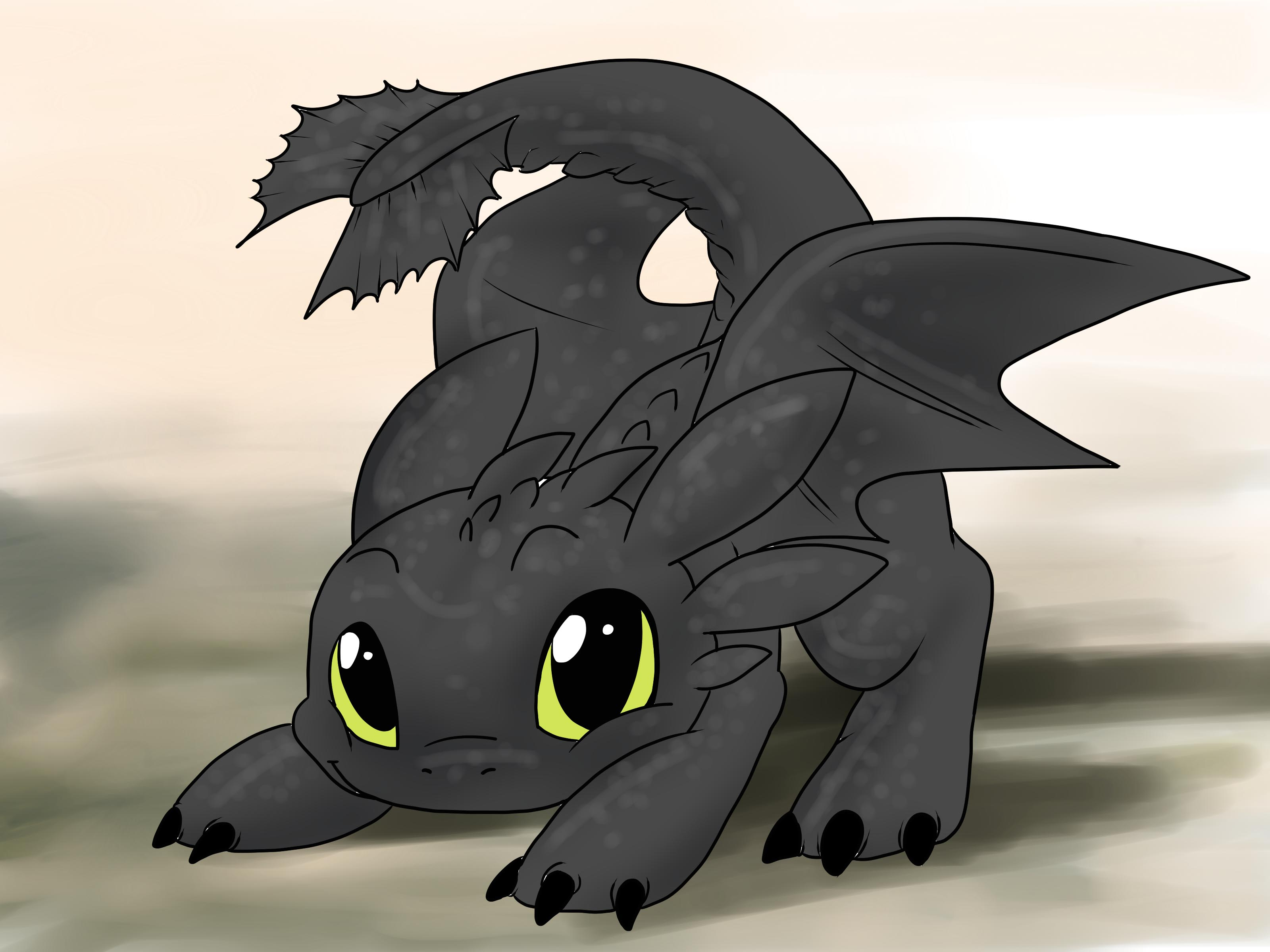 Dragon clipart toothless. Cute dragons to draw