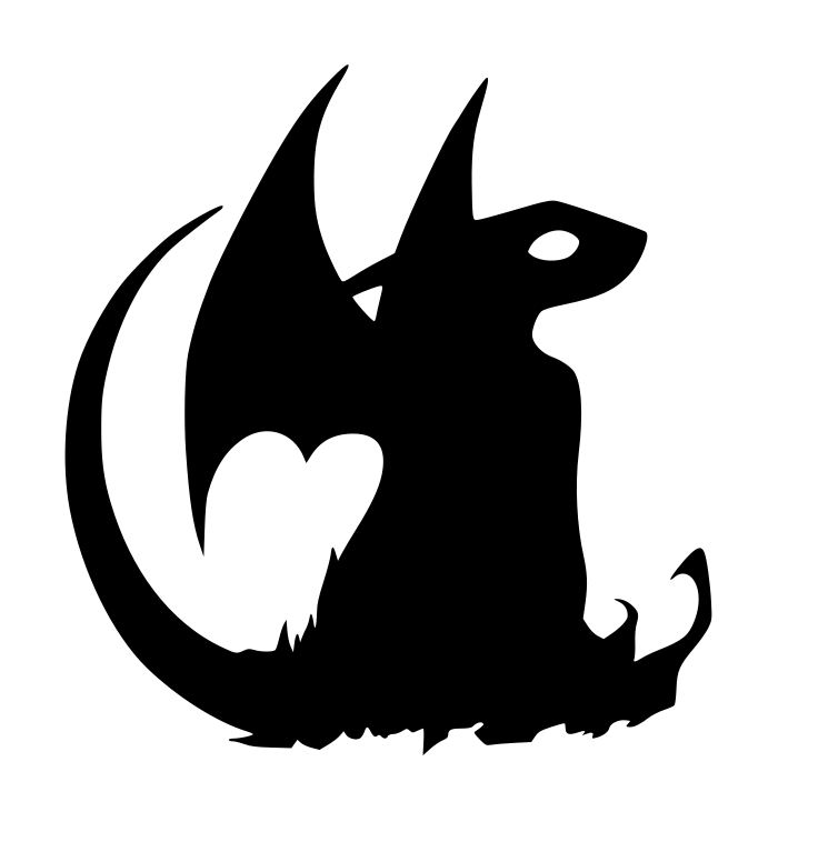 Dragon clipart toothless. Silhouette