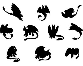 Dragon clipart toothless. Art etsy svg dragons