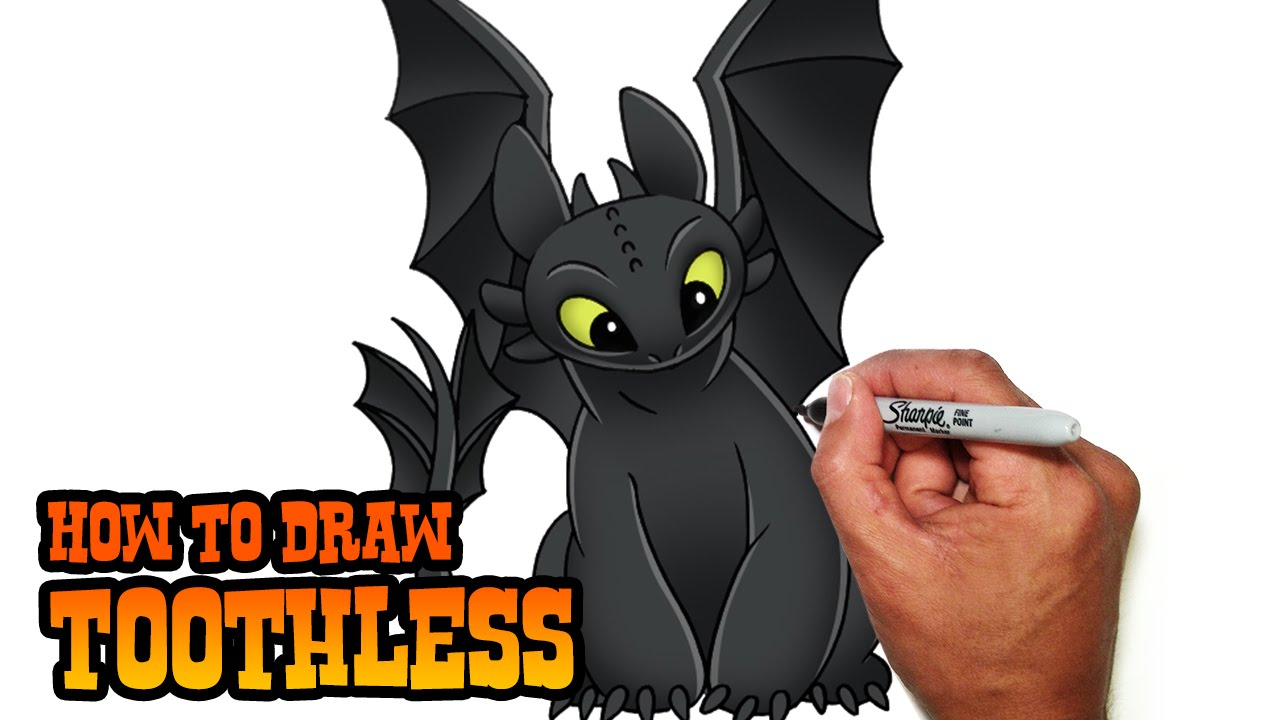 Dragon clipart toothless. How to draw train