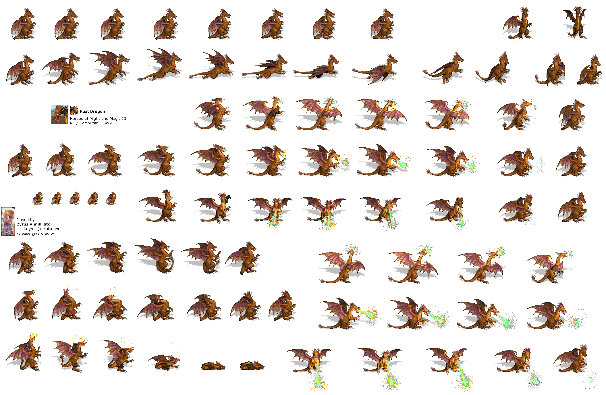 Dragon sprite png. Pc computer heroes of