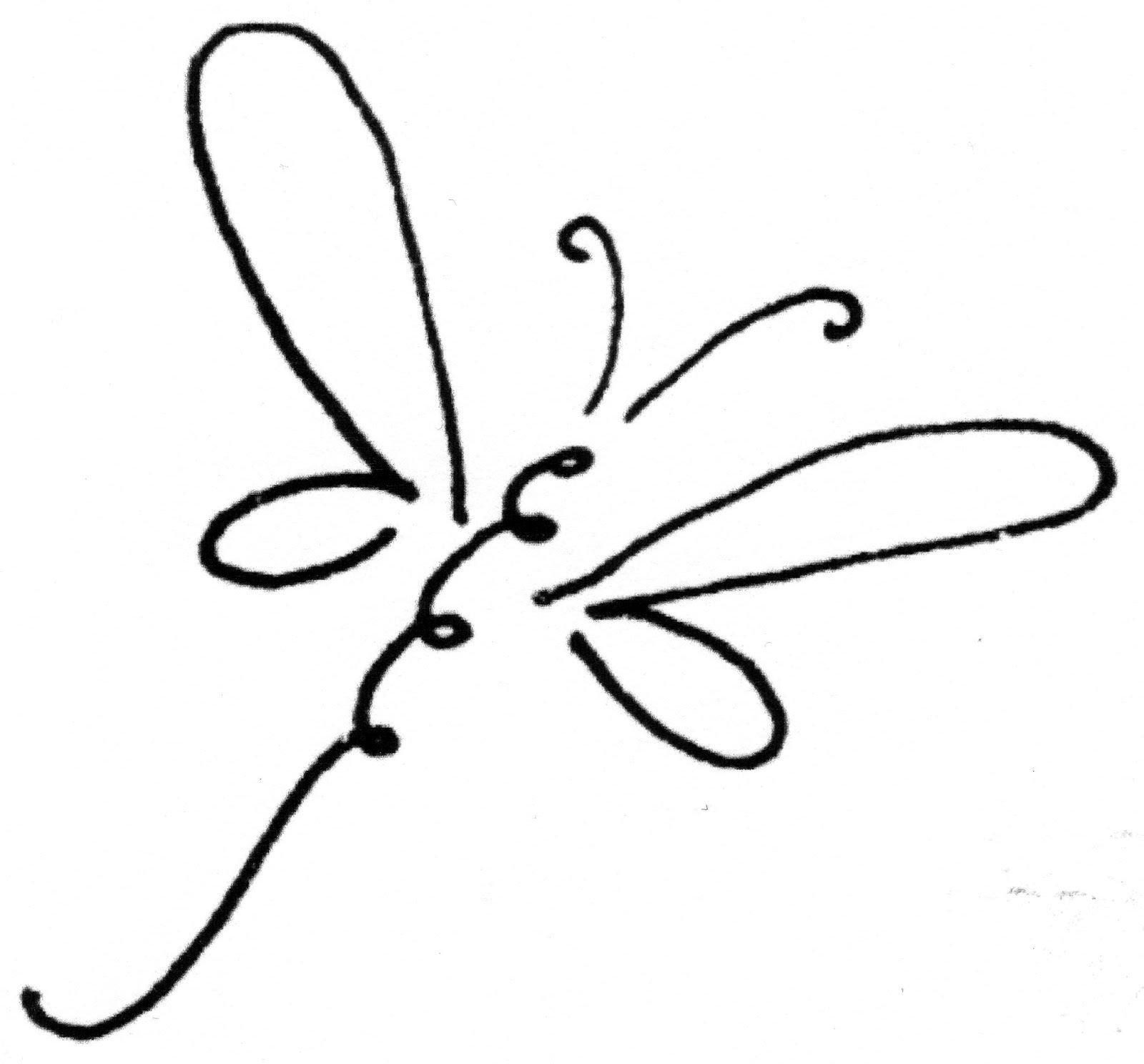 Dragonfly clipart. Clip art black and