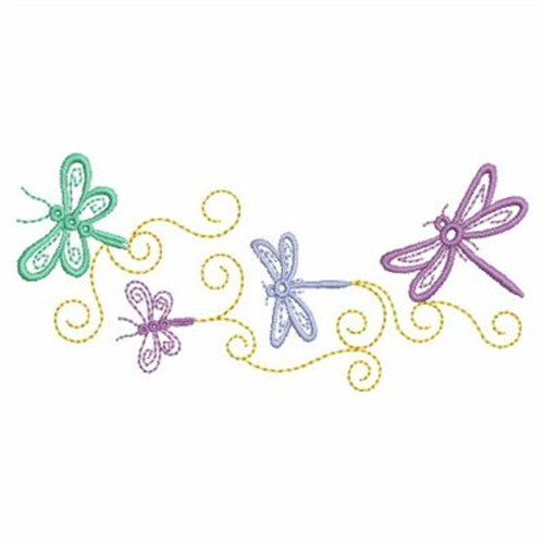 Dragonfly clipart borders. Border pencil and in svg transparent library