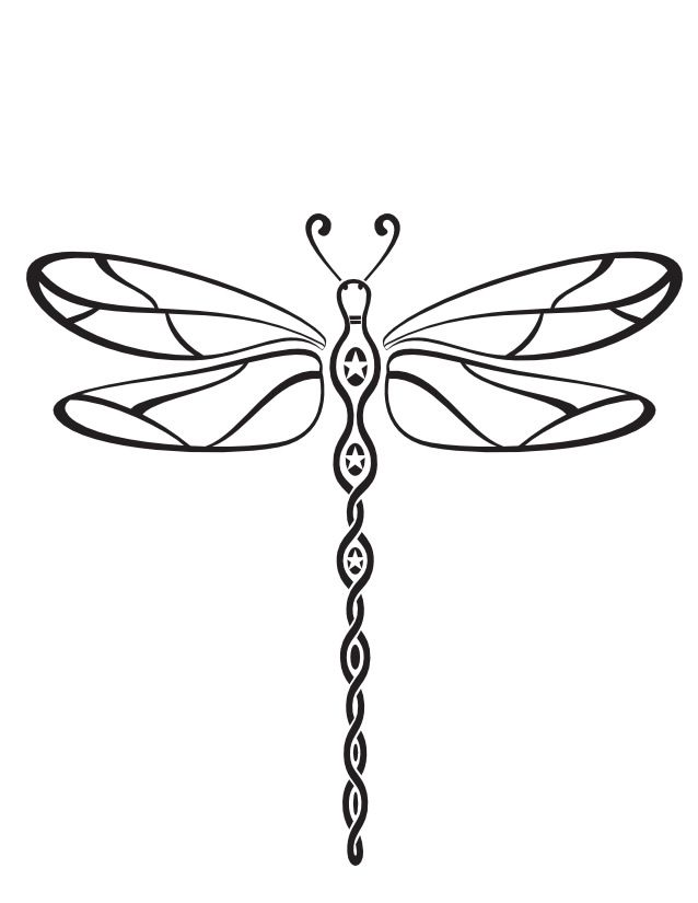 Dragonfly clipart dragonfly tattoo. Http www coloriages ca