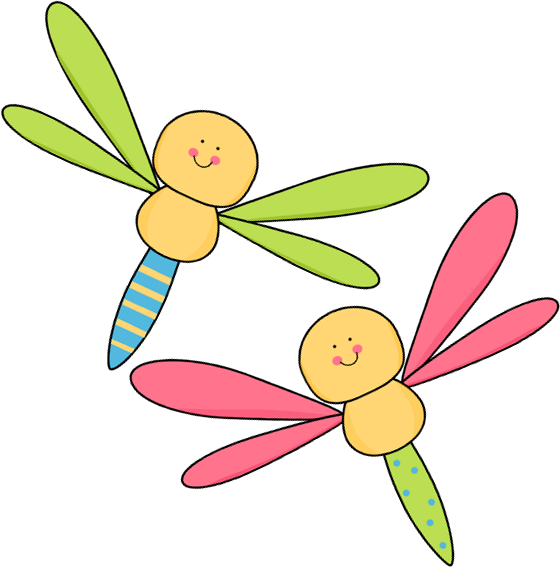 Dragonfly clipart firefly. Pencil and in color