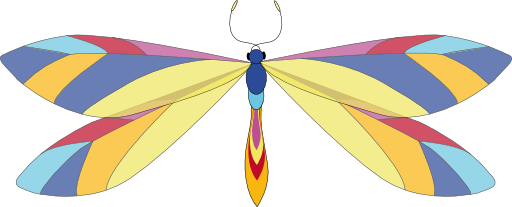 Dragonfly clipart svg. I royalty free public