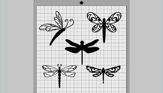 Dragonfly clipart svg. Collection dxf eps pdf