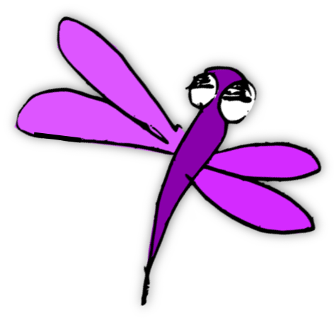 Dragonfly clipart whimsical. Silhouette