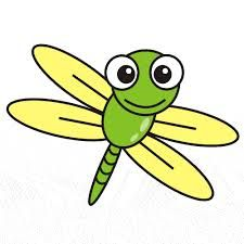 Dragonfly clipart. Cute cartoon free clip