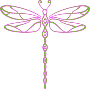 Dragonfly transparent green black. Pink and clip art