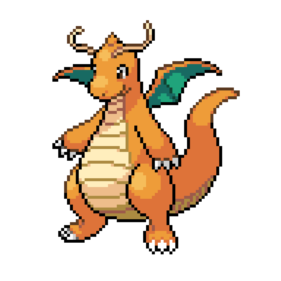 Dragonite sprite png. I fixed the colour