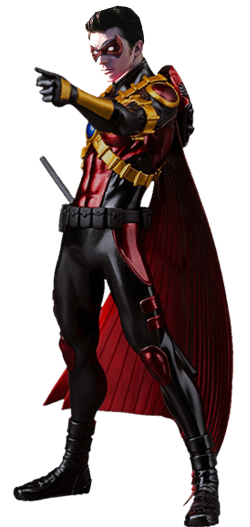 Red robin png. Tim drake bell transparent