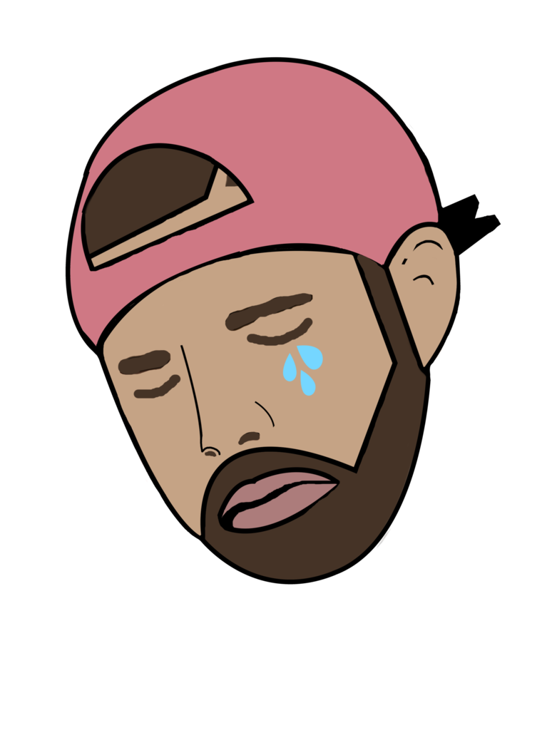 Crying meme png. Drake by sampoozi art