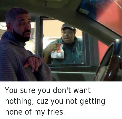 Drake hotline bling meme png. Fast food and