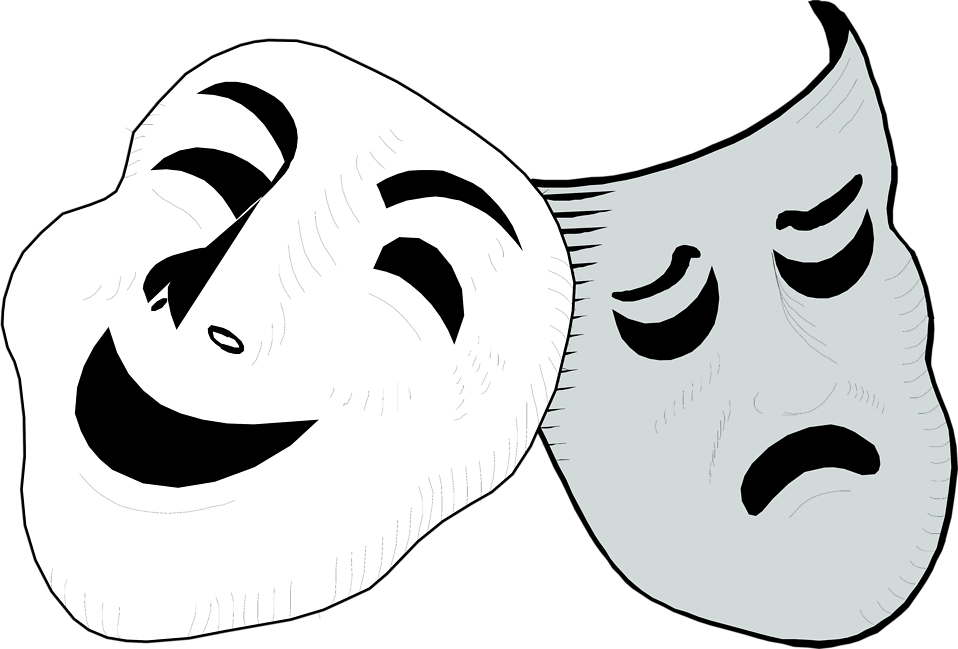 Free transparent drama cliparts. Mask clipart mood disorder clipart
