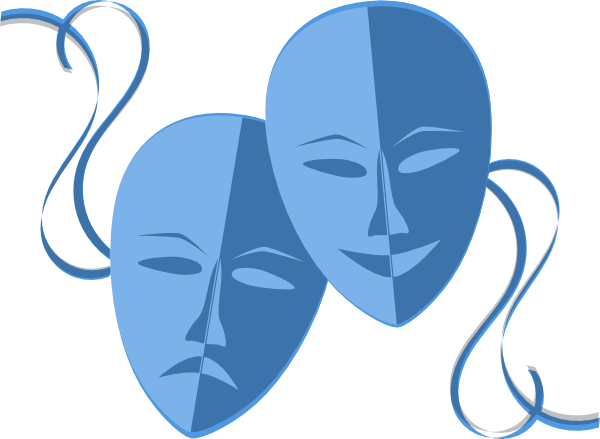 Drama clip art free. Theater vector mask banner library library