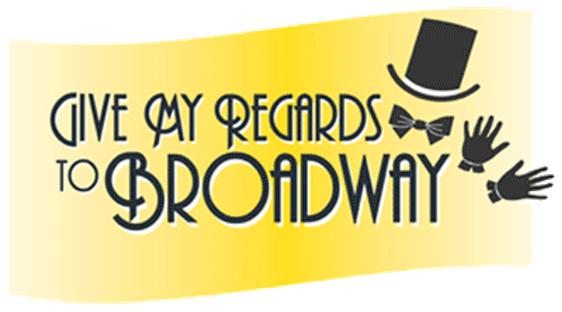 Drama clipart broadway musical. Give my regards to