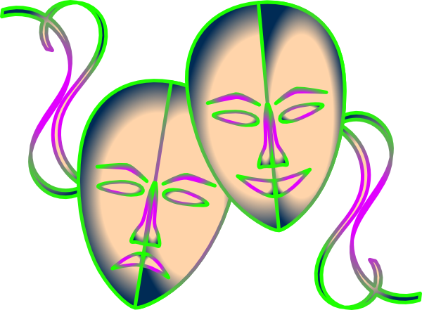 Drama clipart comedians. Free theatre mask download