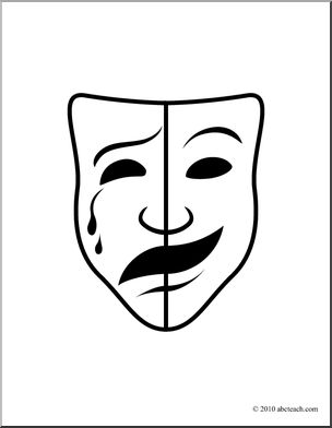 Poem clipart drama mask. Clip art comedy and