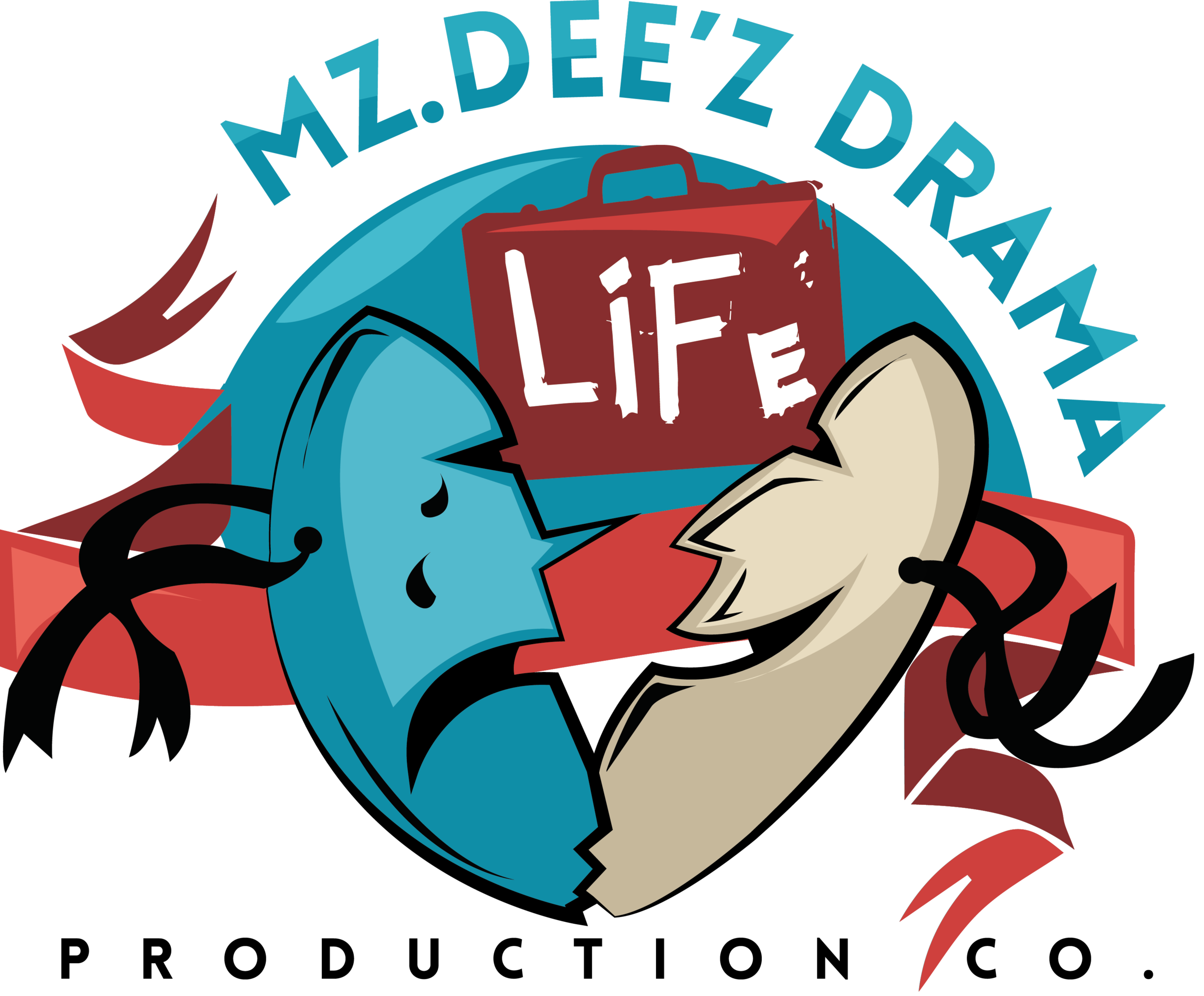 Mz deez productions logo. Drama clipart drama production clipart freeuse library