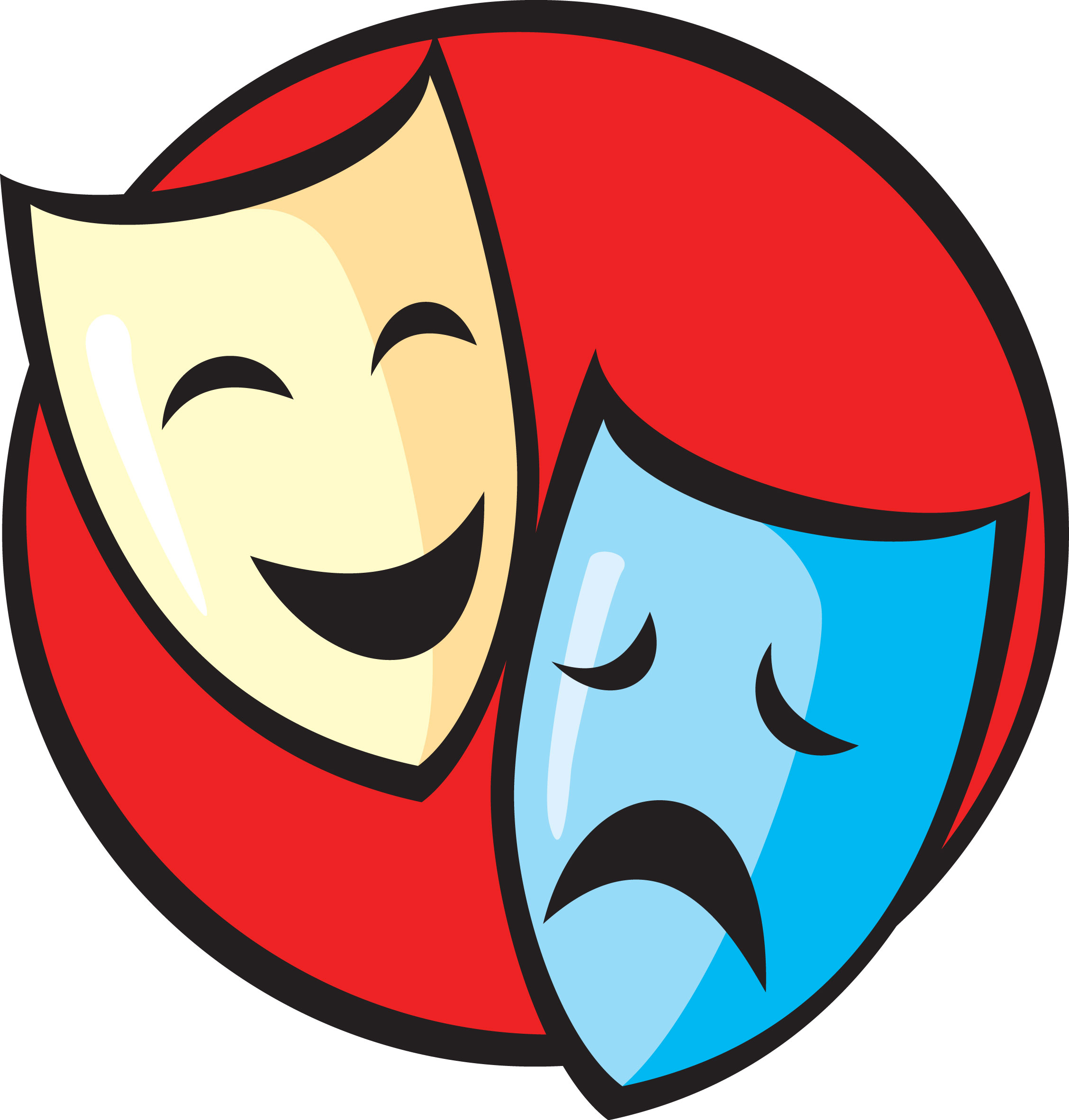 Drama clipart drama symbol. Club meeting wilson middle
