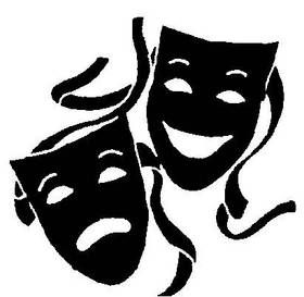 Drama clipart drama symbol. Masks silhouette at getdrawings