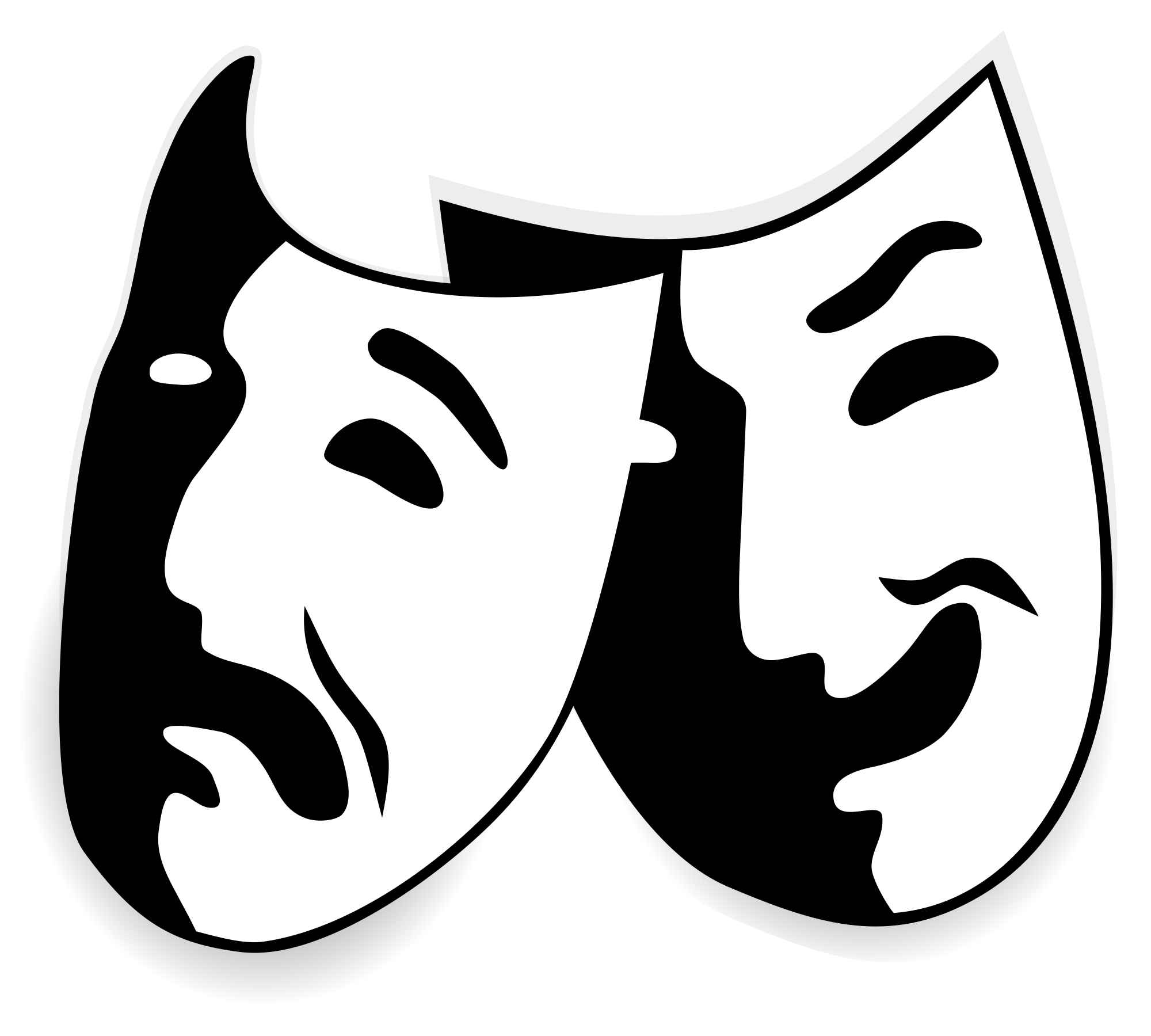 File comedy and tragedy. Drama mask png picture transparent