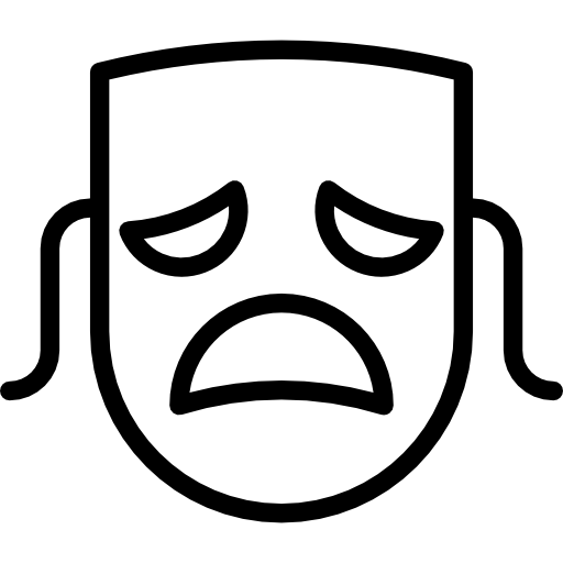 Drama mask png. Theatre tragedy entertainment education