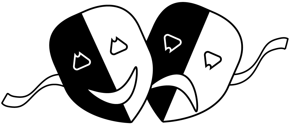 File theatre masks png. Theater vector theatrical mask picture black and white library