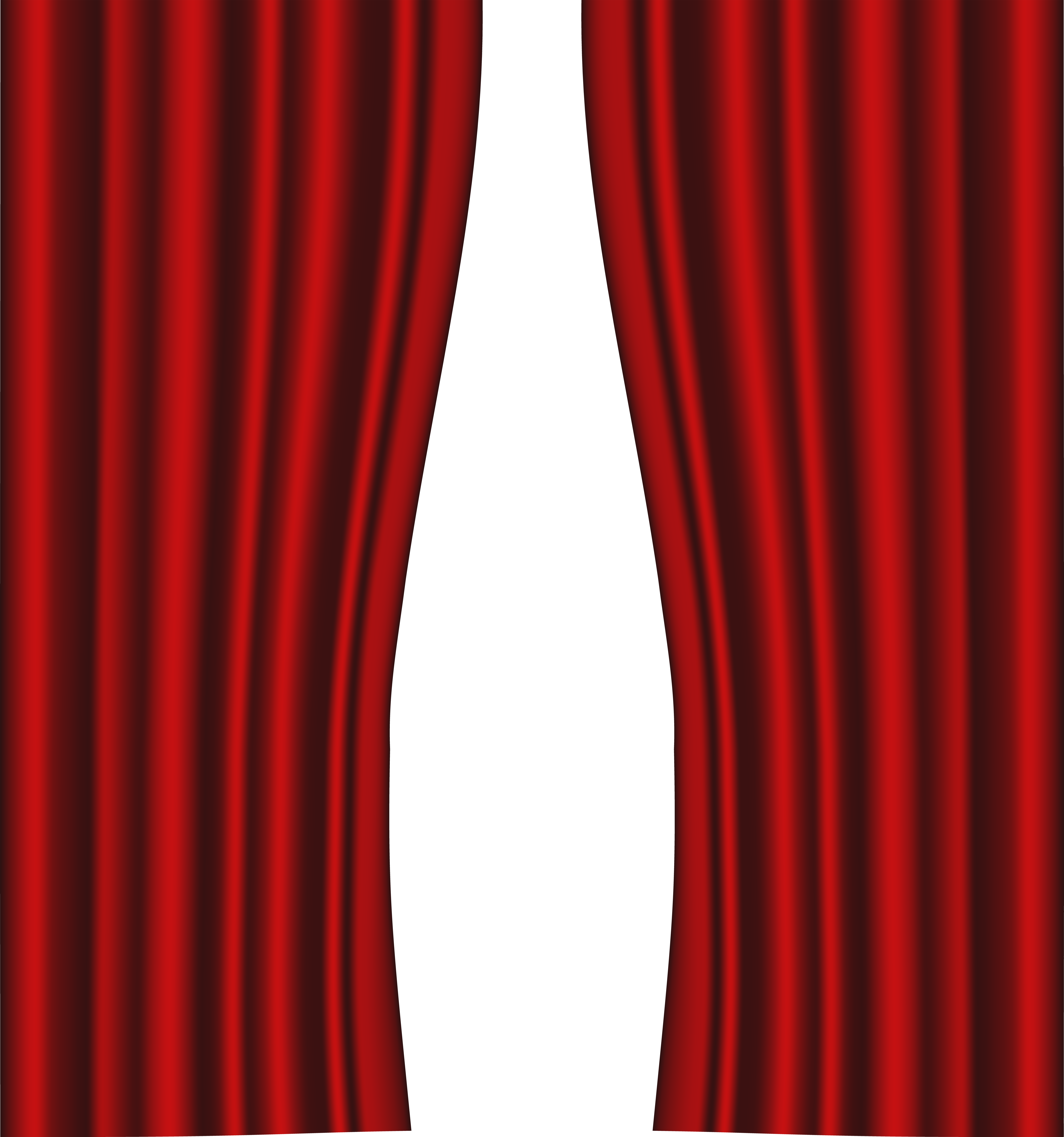 Drapery clip ball. Red curtain image